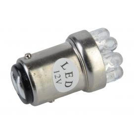 Żarówka samochodowa 12V G18.5 -9LED-1157 biała