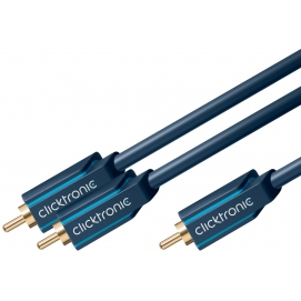 Kabel Y 1xRCA - 2xRCA do subwoofera 5m Clicktronic Casual