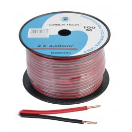 Kabel głośnikowy CCA 2.5mm czarno-czerwony