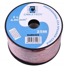 Kabel głośnikowy CCA 4.0mm  25M