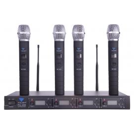 Mikrofon PLL-400 UHF 4 kanały (4 mikrofony do ręki)