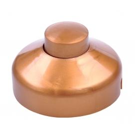 Złącze przełącznik przelotowy na kabel nożny złoty 1A/250V