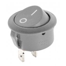 Złącze przełącznik kołyskowy okrągły R5 0-1 szary 10A/250V