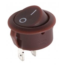 Złącze przełącznik kołyskowy R5 0-1 brązowy 10A/250V