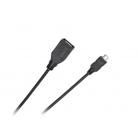 Kabel USB - micro USB gniazdo-wtyk 0.2m Standard