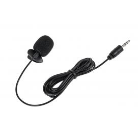 Mikrofon z klipem na kablu jack 3,5mm 2m