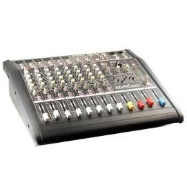 Powermikser PMQ-2110 10 kanałowy z wbudowanym wzmacniaczem 2x250W