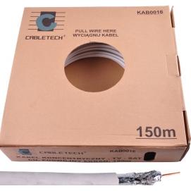 Kabel CABLETECH TV-SAT CU + podwójny ekran 150m/k.