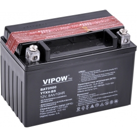 Akumulator do motocykli VIPOW 12V 8Ah YTX9-BS