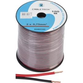 Kabel głośnikowy CCA 0.75mm czarno-czerwony
