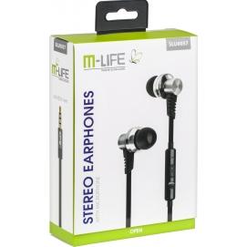 Słuchawki metalowe douszne M-Life Jack 3,5 z mikrofonem iphone/samsung