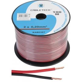Kabel głośnikowy CCA 0.20mm czarno-czerwony