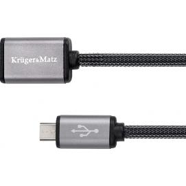 Kabel USB - micro USB gniazdo-wtyk 1.0m Kruger&Matz