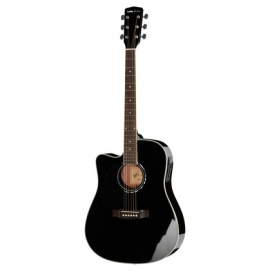 Gitara elektroakustyczna dla leworęcznych Harley Benton D-120CE-LH BK