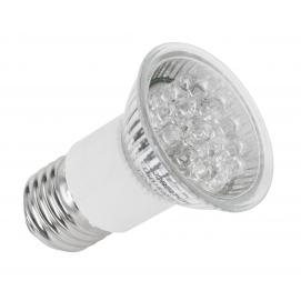 Żarówka 18 LED E27, zimne białe, JDR 230V
