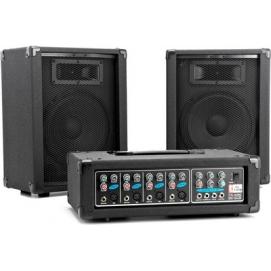 T.Amp PA 4080 zestaw powermikser+głośniki+mikrofon+przewody