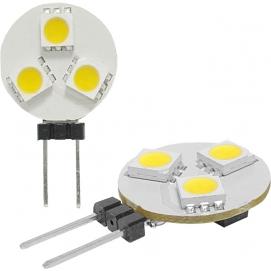 Żarówka 3 LED G4 12V ciepły biały