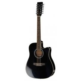 Gitara elektroakustyczna Harley Benton HBD200-12 BK