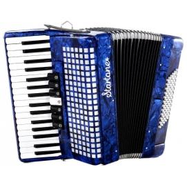 Akordeon klawiszowy Startone Piano Accordion 72 Niebieski