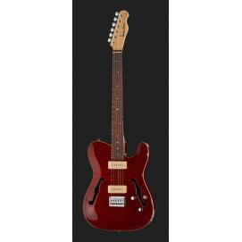 Gitara elektryczna Harley Benton TE-90QM Trans Red