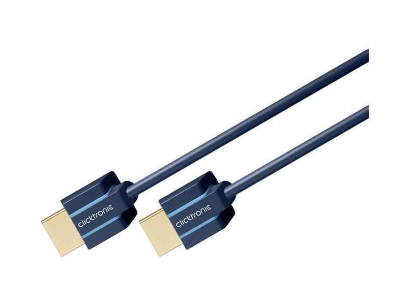 Kabel (slim) HDMI / HDMI 1m Clicktronic