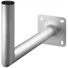 Uchwyt ścienny aluminiowy 45cm do zamontowania czaszy anteny satelitarnej