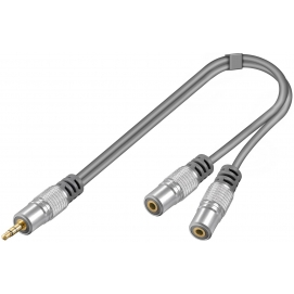 Adapter 3,5mm wtyk / 2x 3,5mm gniazdo 0,1m Home Theater