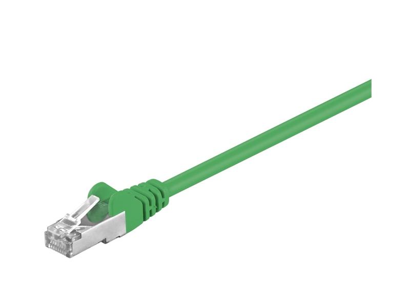 Kabel Patchcord CAT 5e SF/UTP RJ45/RJ45 0,5m zielony