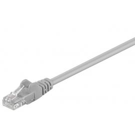 Kabel Patchcord Cat 5e U/UTP RJ45/RJ45 1m szary