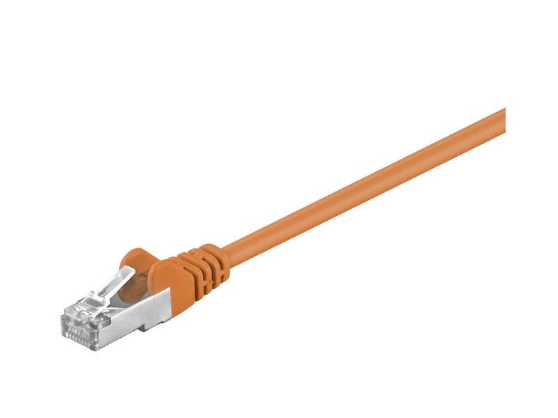 Kabel Patchcord CAT 5e SF/UTP RJ45/RJ45 5m pomarańczowy
