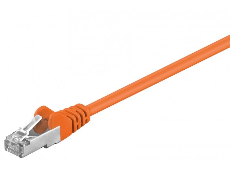 Kabel Patchcord CAT 5e F/UTP RJ45/RJ45 0,25m pomarańczowy