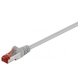 Kabel Patchcord CAT 6 S/FTP PIMF LC RJ45/RJ45 1m szary
