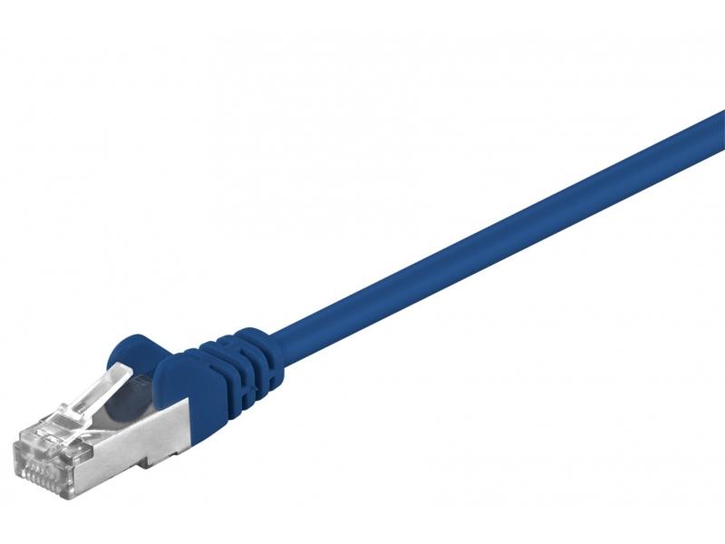 Kabel Patchcord CAT 5e SF/UTP RJ45/RJ45 0,25m niebieski