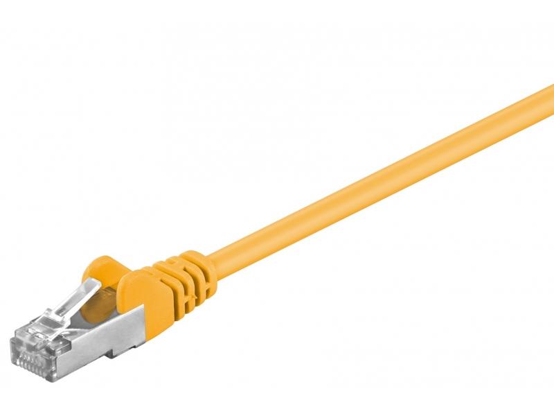 Kabel Patchcord CAT 5e SF/UTP RJ45/RJ45 0,25m żółty