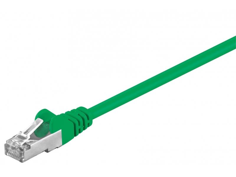 Kabel Patchcord CAT 5e SF/UTP RJ45/RJ45 0,25m zielony