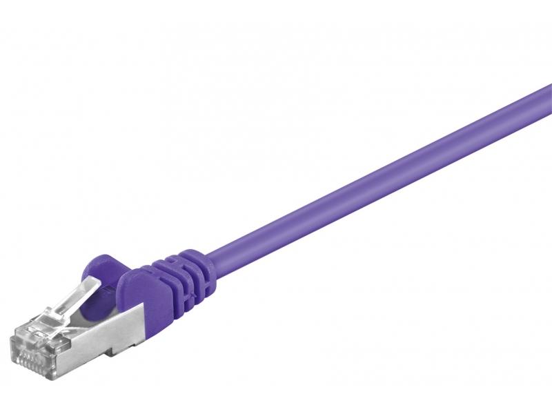Kabel Patchcord CAT 5e SF/UTP RJ45/RJ45 0,25m fioletowy