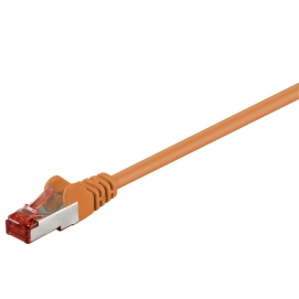 Kabel Patchcord CAT 6 S/FTP PIMF LC RJ45/RJ45 1.5m pomarańczowy