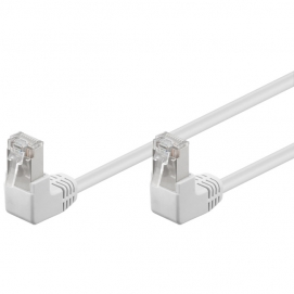Kabel Patchcord Cat 5e F/UTP (2x90°) RJ45/RJ45 1m biały