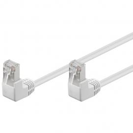 Kabel Patchcord Cat 5e F/UTP (2x90°) RJ45/RJ45 15m biały
