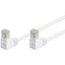 Kabel Patchcord Cat 5e U/UTP (2x90°) RJ45/RJ45 1m biały