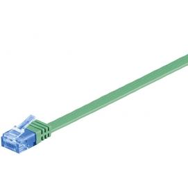 Kabel płaski Patchcord CAT 6a U/UTP RJ45/RJ45 7m zielony