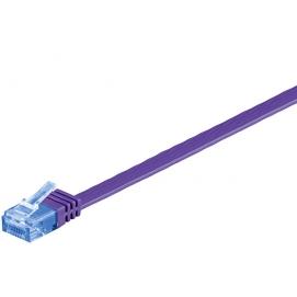 Kabel płaski Patchcord CAT 6a U/UTP RJ45/RJ45 7m fioletowy