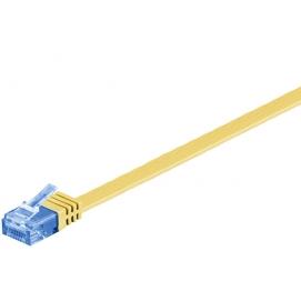 Kabel płaski Patchcord CAT 6a U/UTP RJ45/RJ45 10m żółty