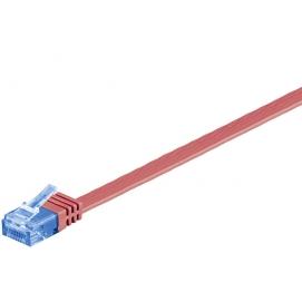 Kabel płaski Patchcord CAT 6a U/UTP RJ45/RJ45 10m czerwony