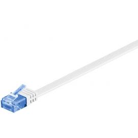Kabel płaski Patchcord CAT 6a U/UTP RJ45/RJ45 15m biały