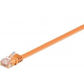 Kabel płaski Patchcord CAT 6 U/UTP RJ45/RJ45 0,5m pomarańczowy