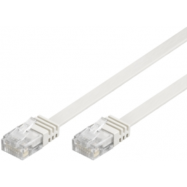 Kabel płaski Patchcord CAT 5e U/UTP RJ45/RJ45 20m biały