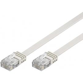 Kabel płaski Patchcord CAT 5e U/UTP RJ45/RJ45 1m biały