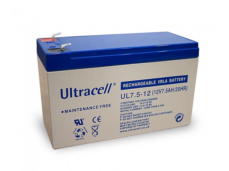Akumulator ołowiowy 12 V, 7,5 Ah (UL7.5-12)