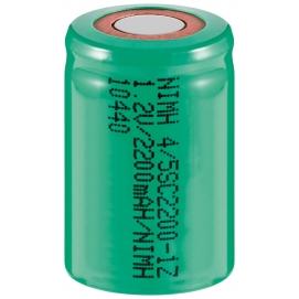 4/5 Sub-C, 2200 mAh, Pin płaski
